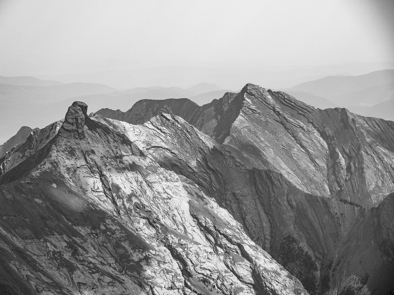 Old Fort Peak at left with Goat Mountain right of center.