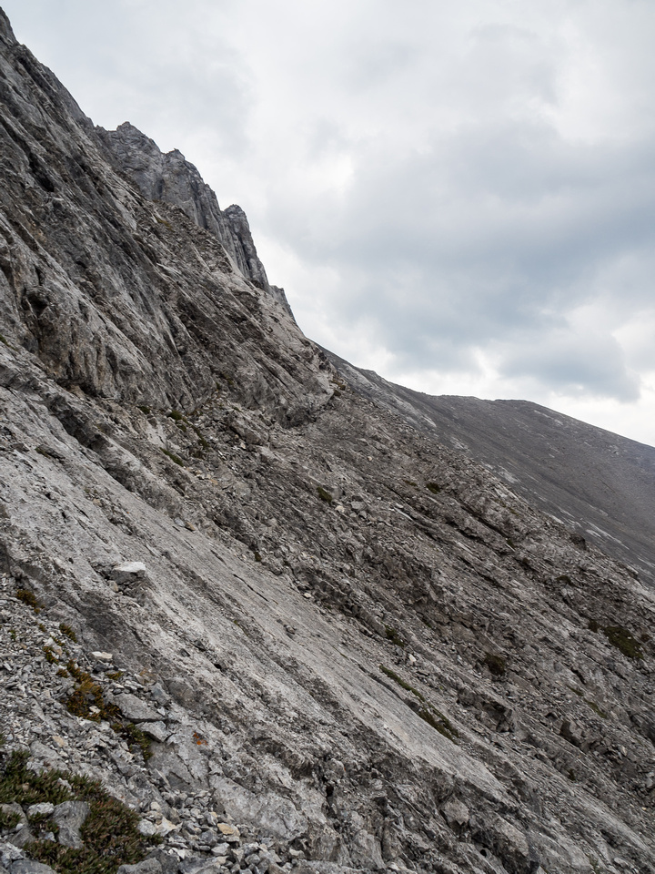 I would rate the traverse moderate simply due to routefinding and some slabby sections.