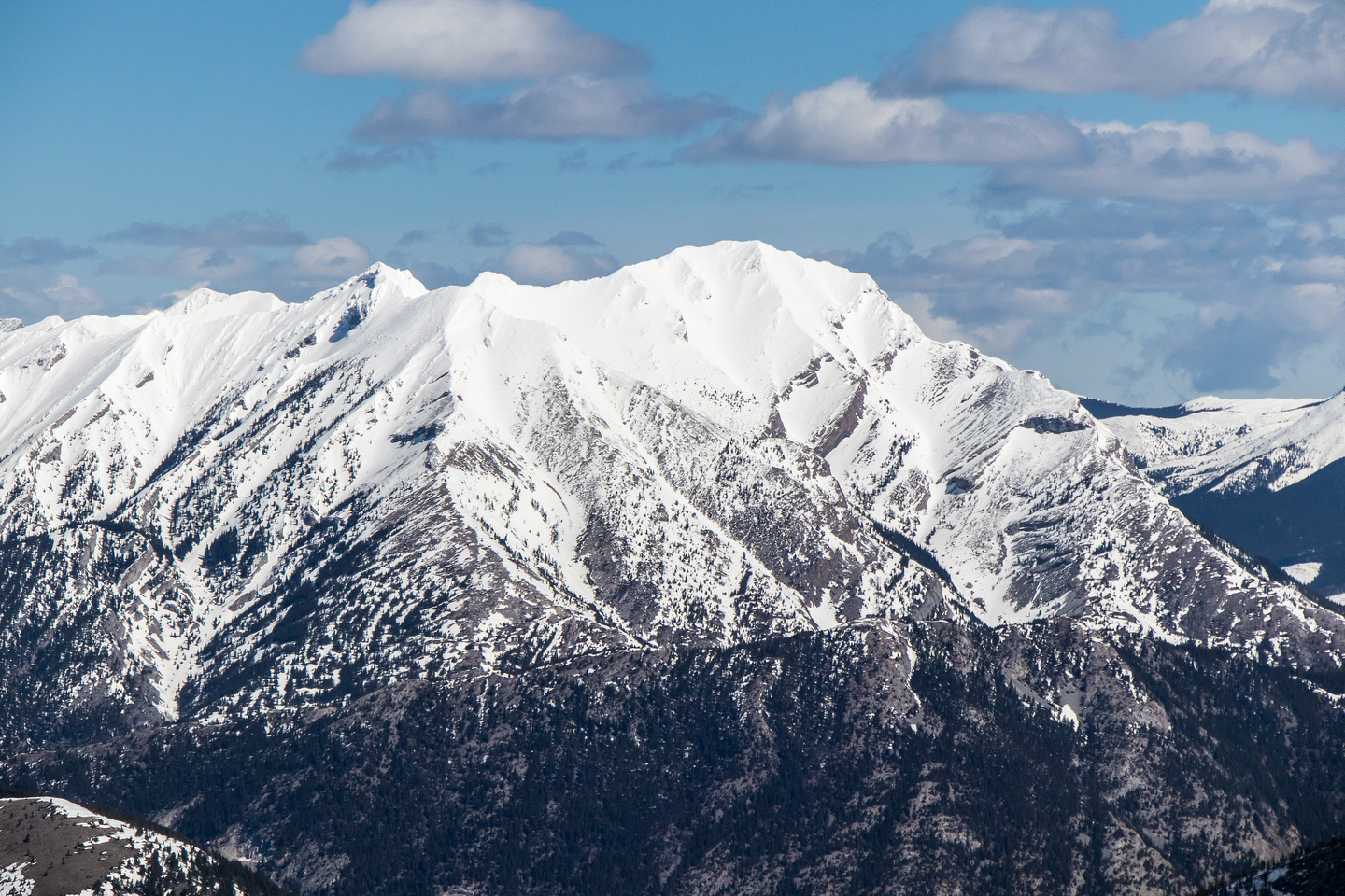 Phillipps Peak and Mount Tecumseh.