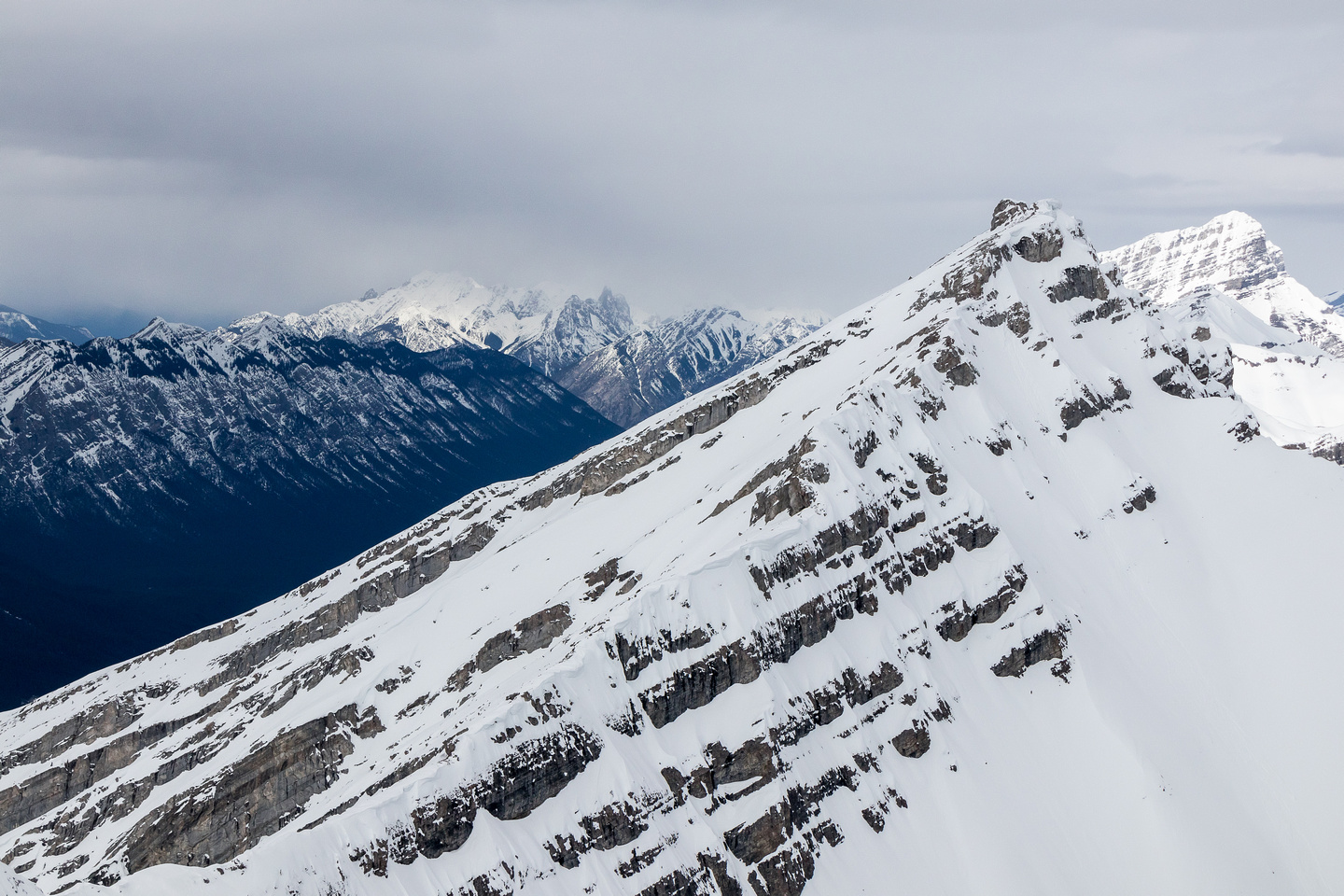 Mount Lawrence Grassi was one of my first winter scrambles. It took me two tries on subsequent days to make the summit!