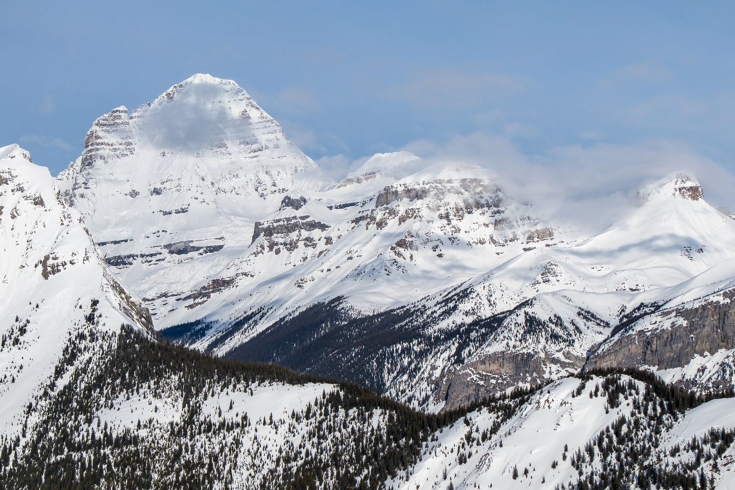 Assiniboine, Magog, Terrapin, The Towers and Wonder Peak.