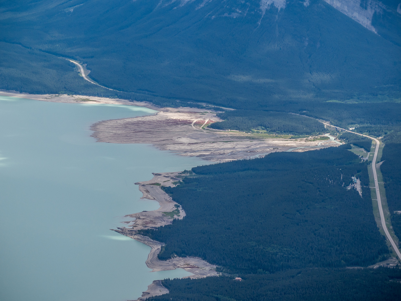 Next to the North Saskatchewan River, the Cline River is the biggest contributing water source to Abraham Lake.