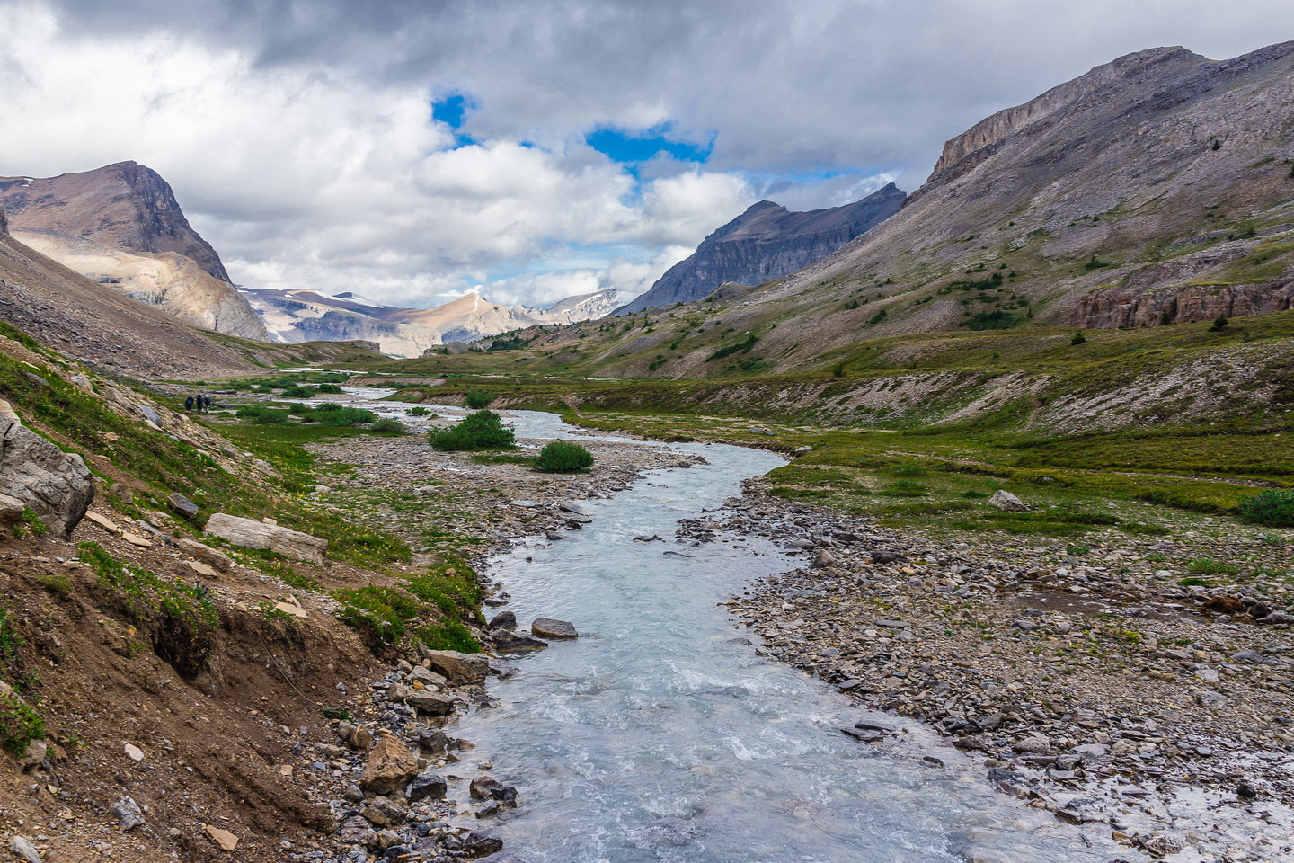 This is where we stayed on the left (west) side of Dolomite Creek while the trail crossed over.
