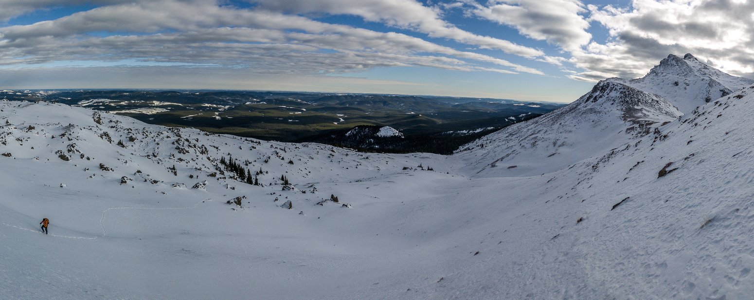Another view, this time looking back over the boulder field at lower left.