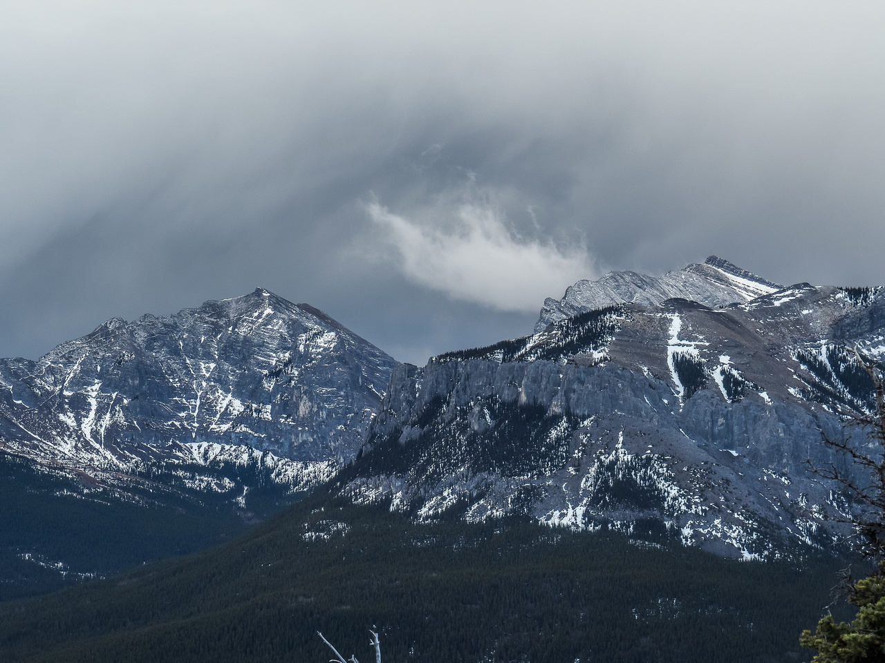 Yamnuska on the left and Wendell on the right.