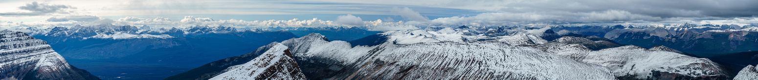A massive pano looking west and north at many, many Jasper peaks.