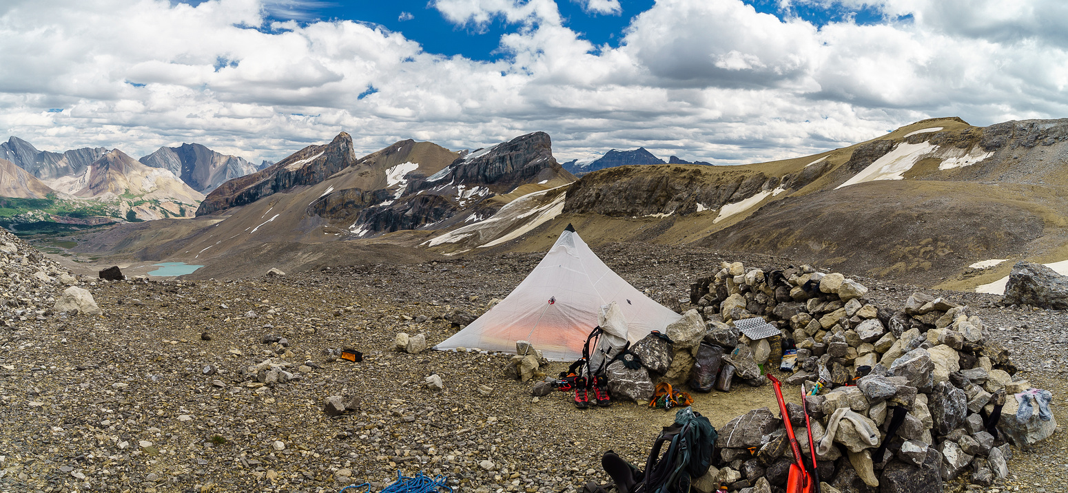 The bivy at Swan Pass.