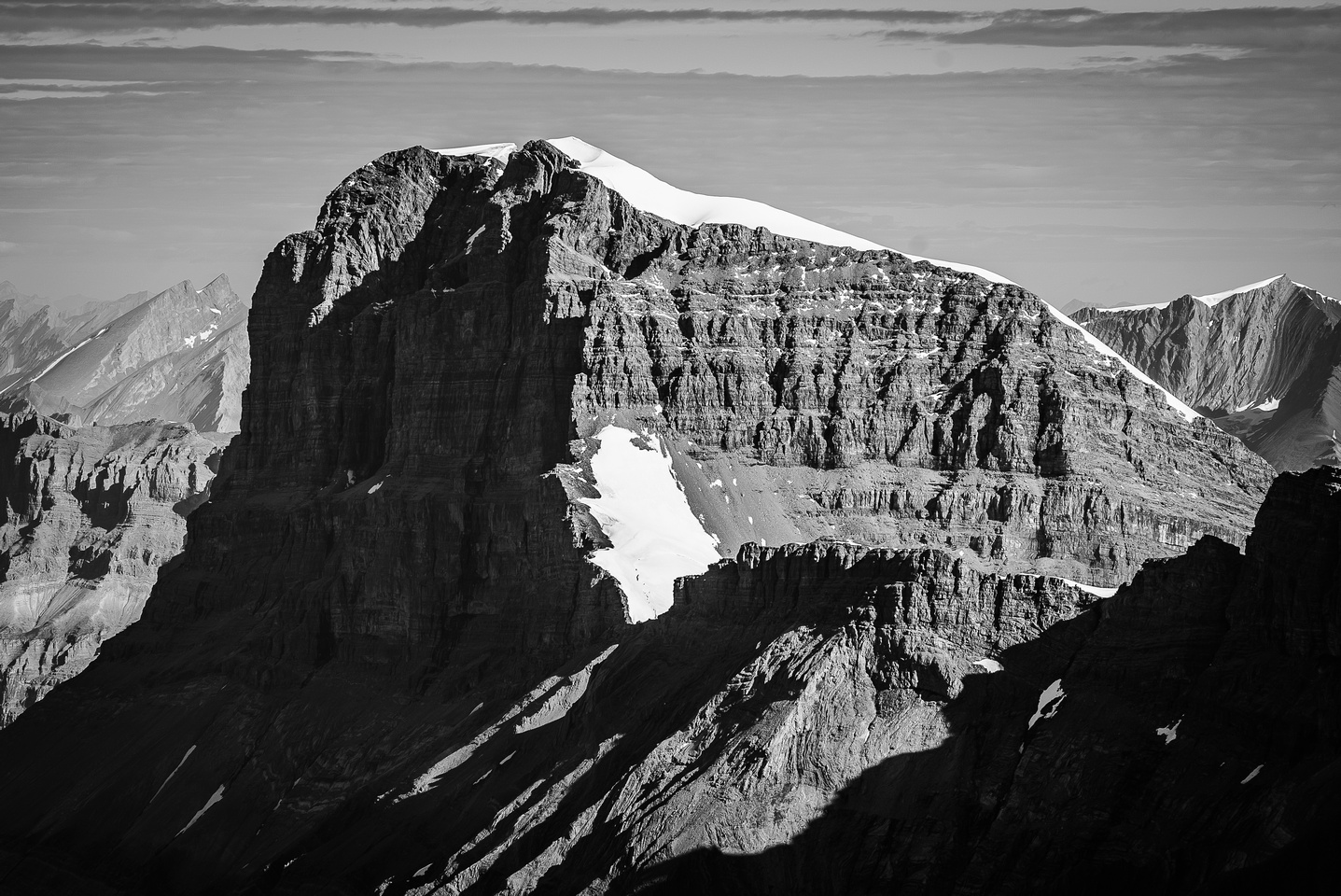 The impressive west face of Mount Warren.