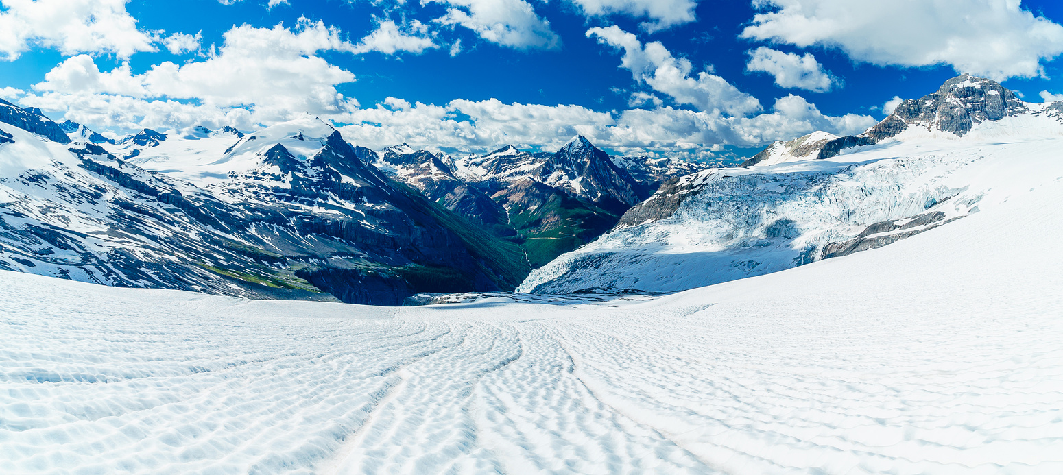 A plod with a VIEW! Looking back down the glacier.