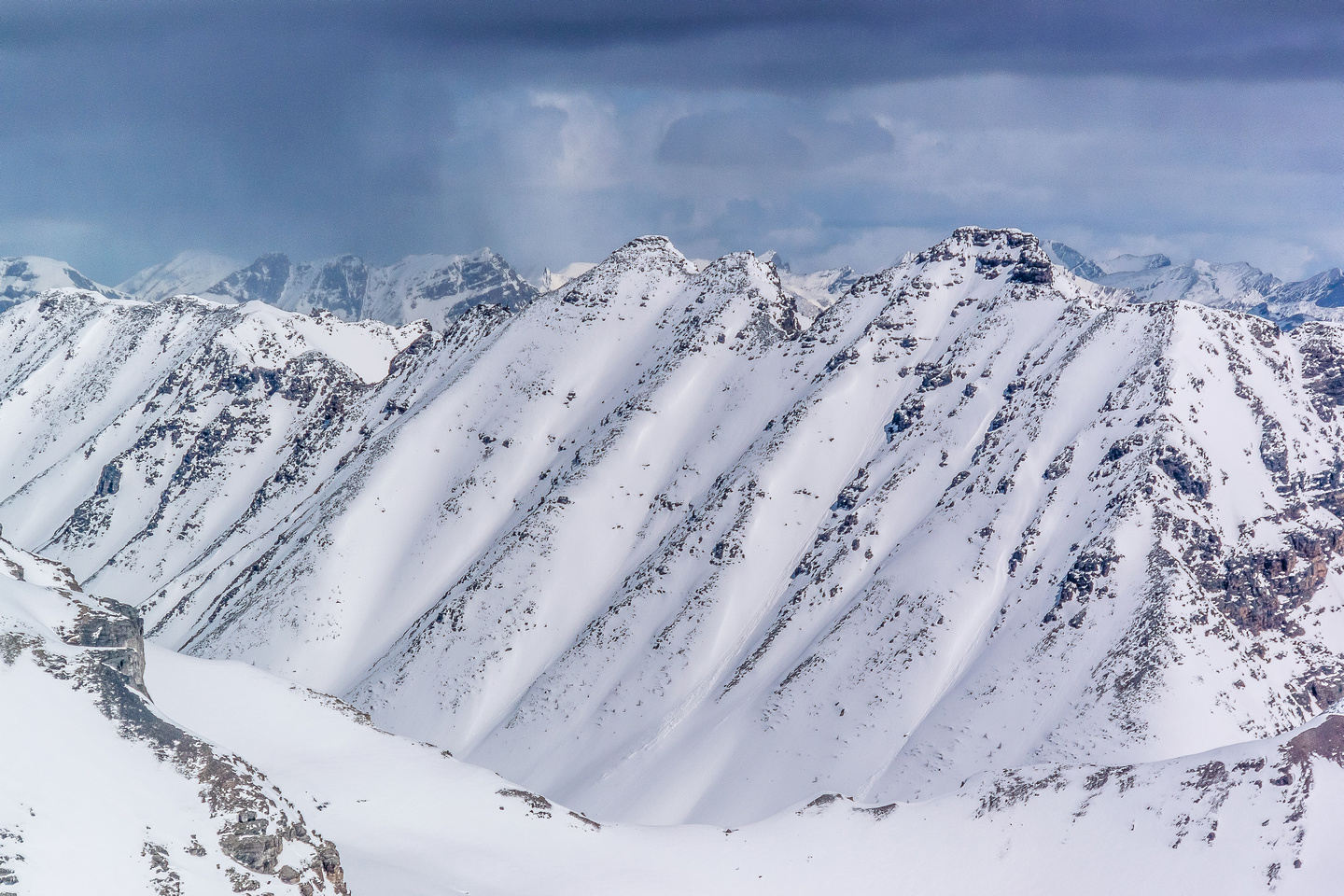 Panorama Ridge looms over Consolation Lakes.