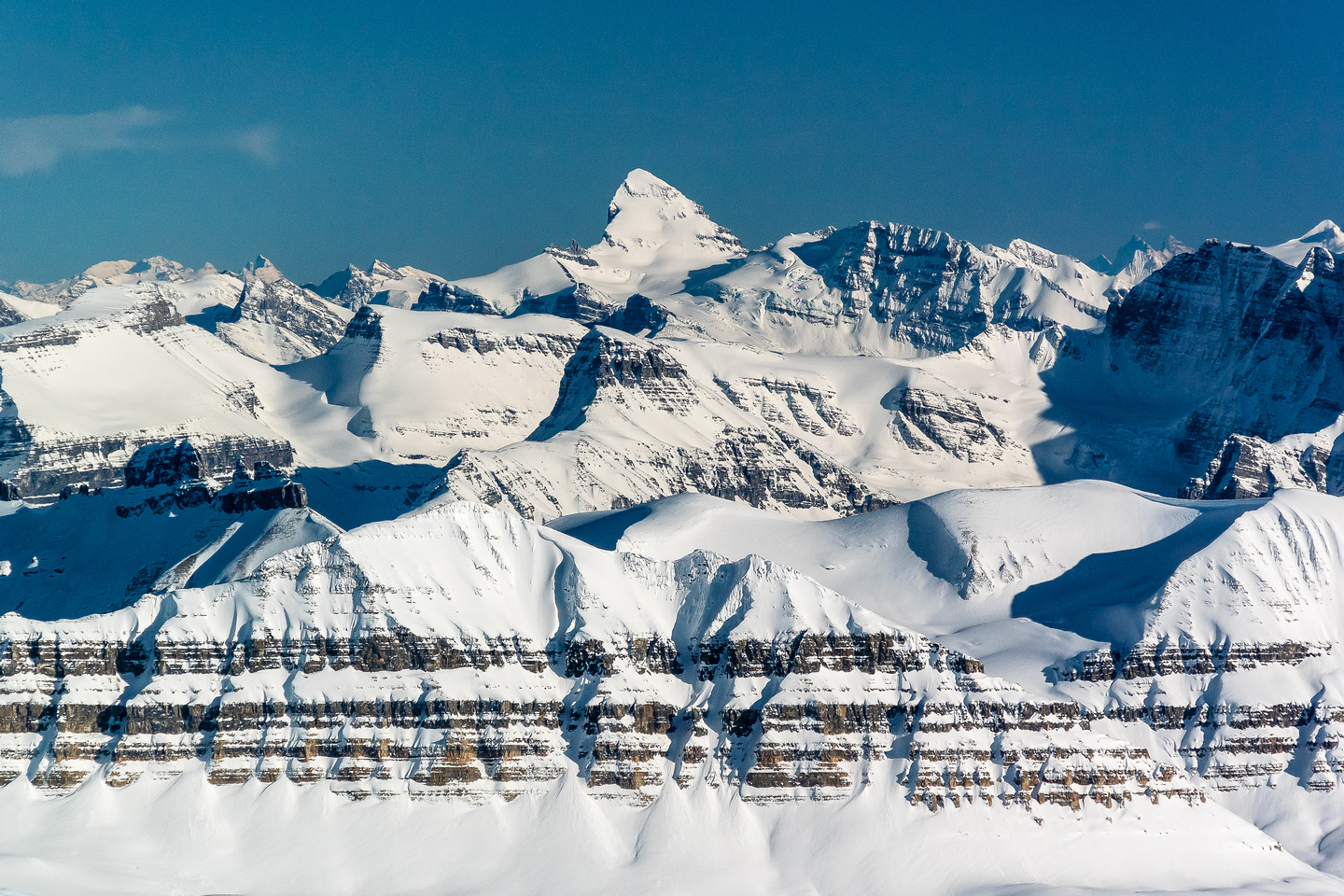 Mount Forbes is the highest peak in Banff National Park at 11,851ft.