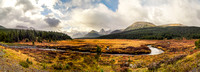 Pano from nearby the Engadine Lodge on our way to the Mount Shark trailhead.