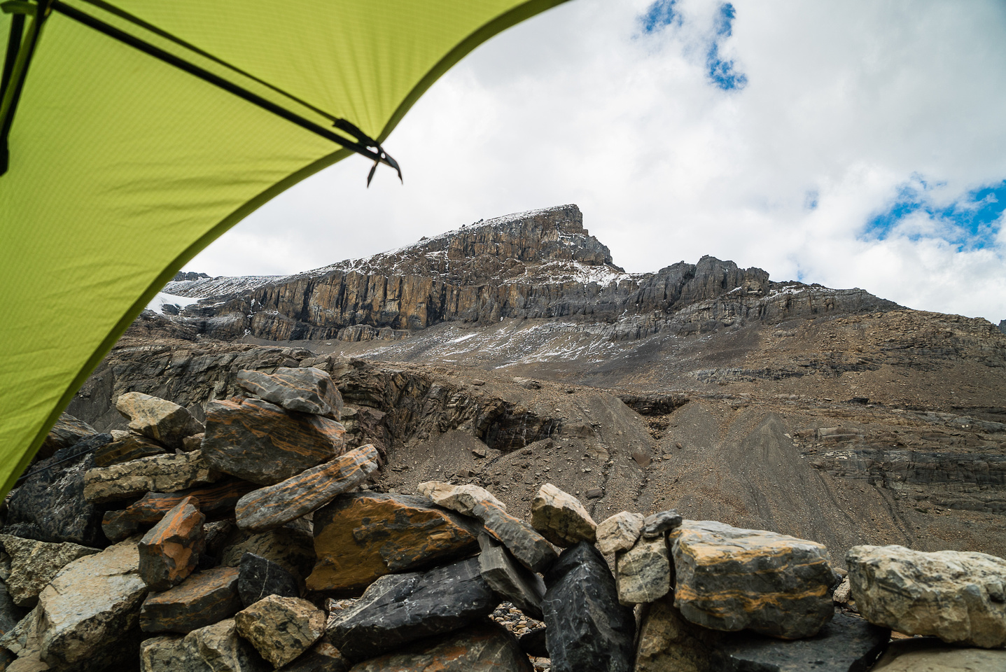 Views from my tent at the Woolley bivy site.