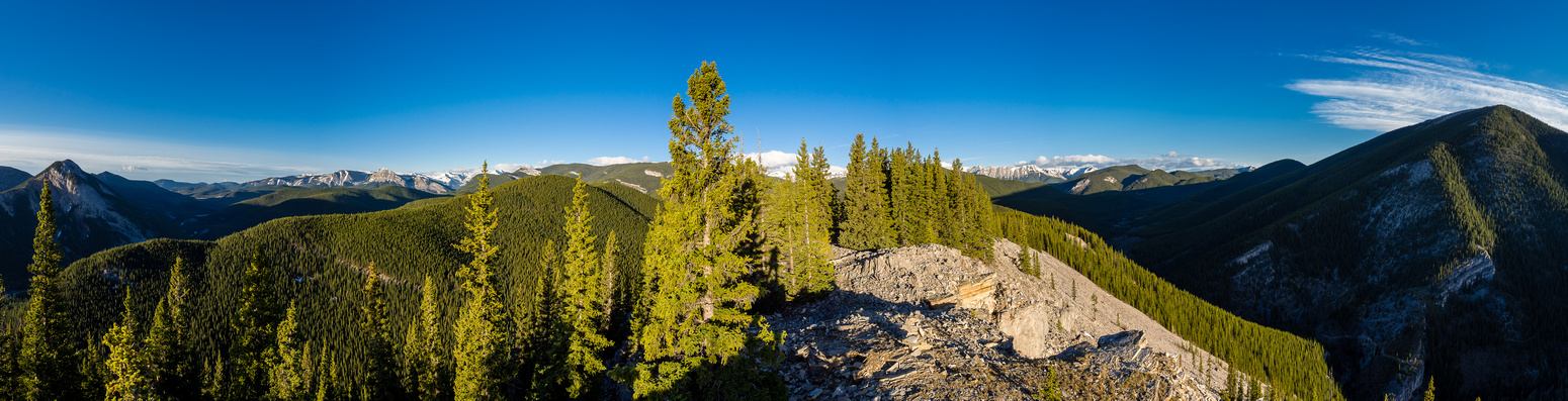 A daylight pano from the summit.