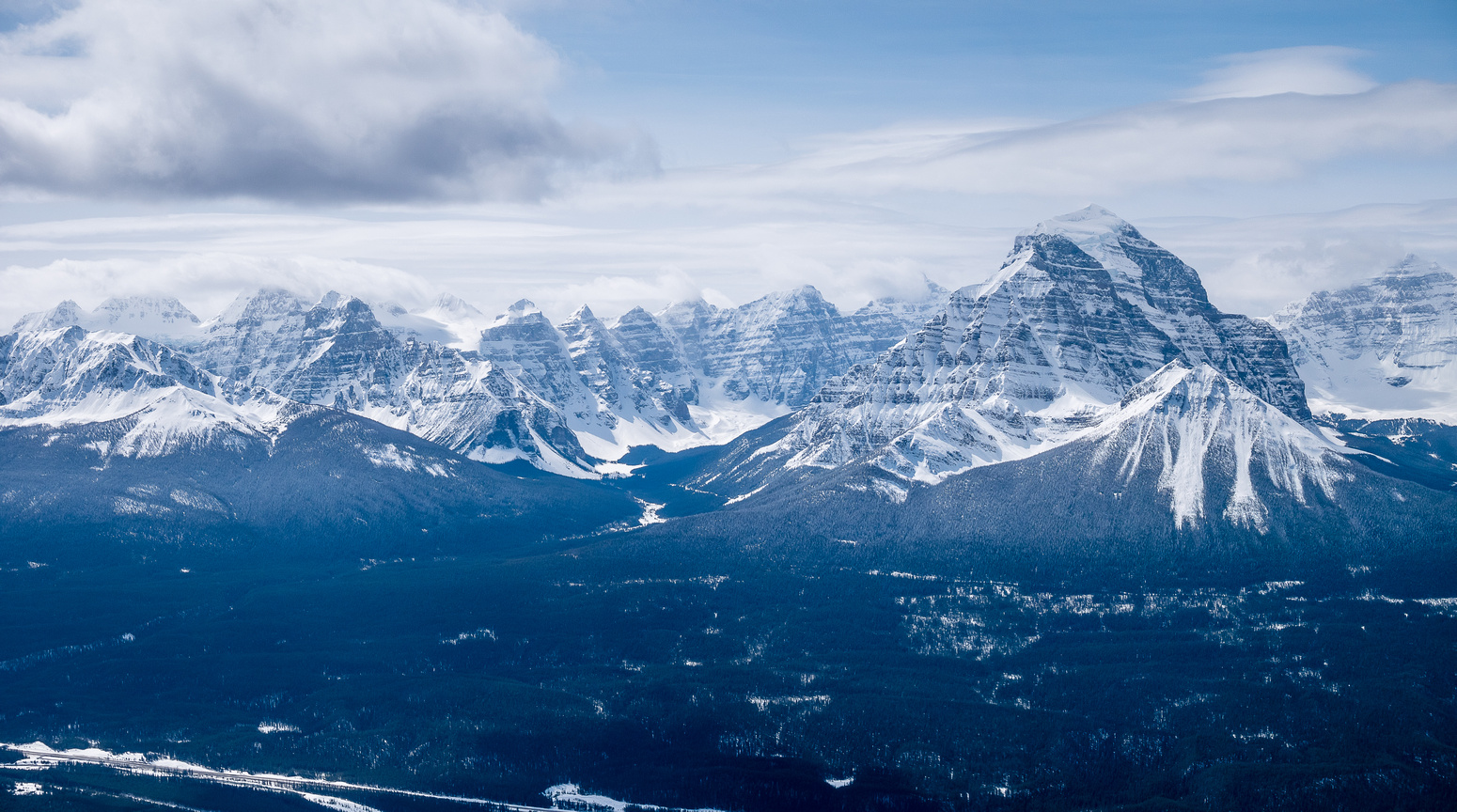 The Valley of Ten Peaks and Mount Temple.