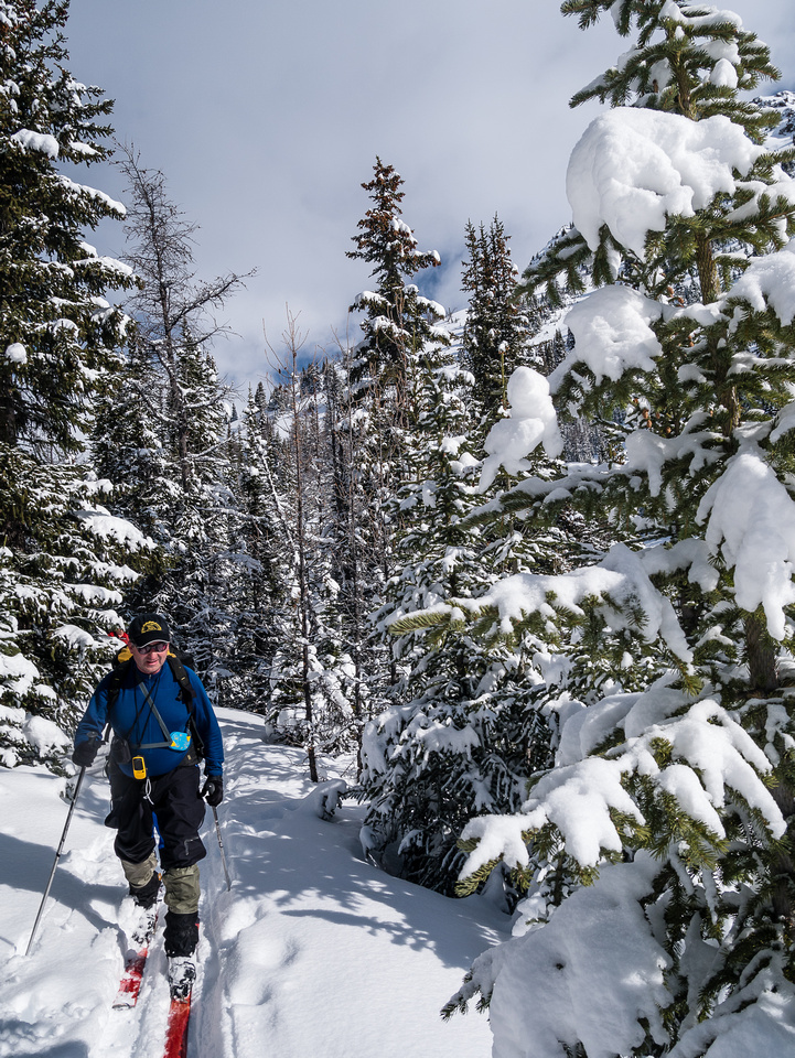 Skiing up to the Wolverine Valley.