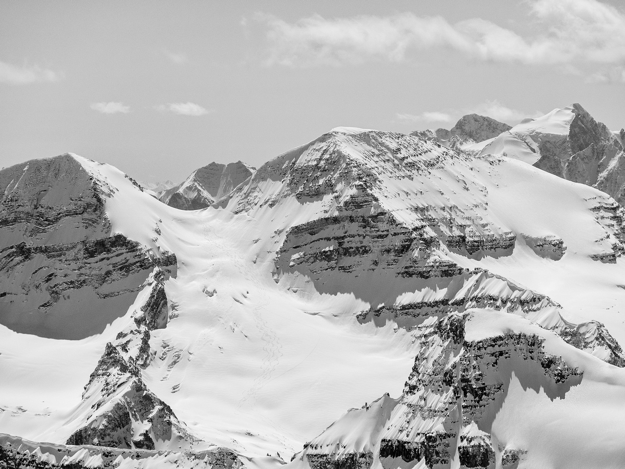 The presidents are awesome Yoho snow ascents and Mount Vaux (on the right) is also an amazing scramble.