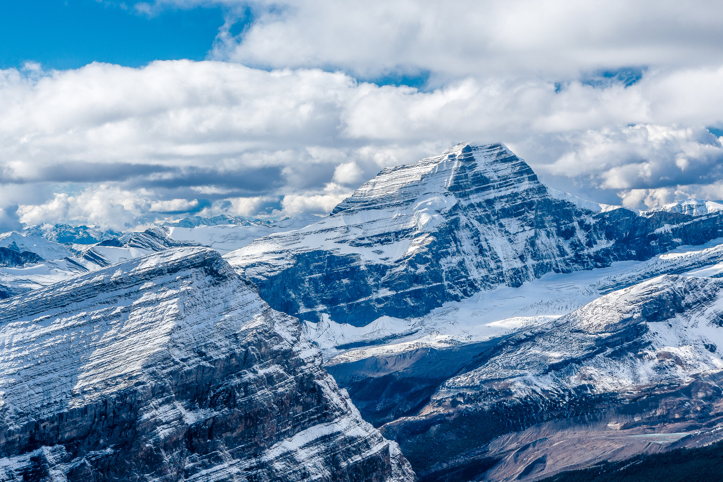 Whitehorn Mountain is an impressive 11,000er in the Robson area.