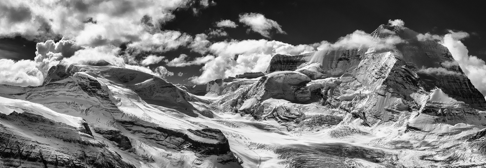 Looking over the Robson Glacier to Mount Robson.