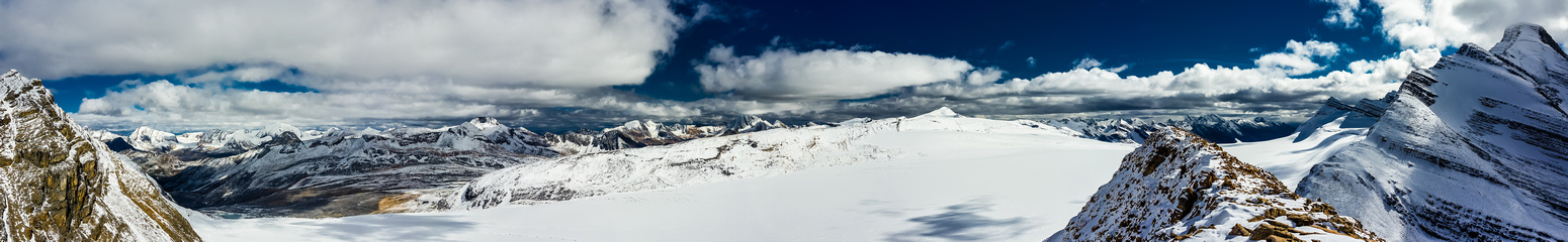More views over the Reef Icefield with Lynx on the far right.