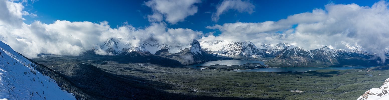 Dramatic views over the Kananaskis Lakes area.