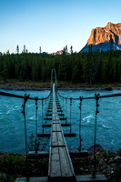 This bridge across the Athabasca River is getting a bit old, but it still worked for us in 2013. Less than a year later, it would collapse for good.