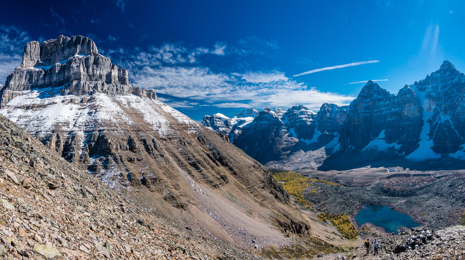 More views of the Valley of Ten Peaks and Eiffel Lake.