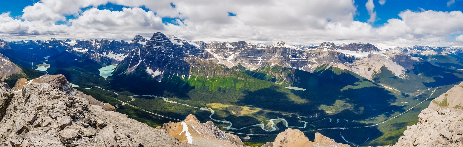 More of the incredible scenery over the Icefields Parkway to the west.