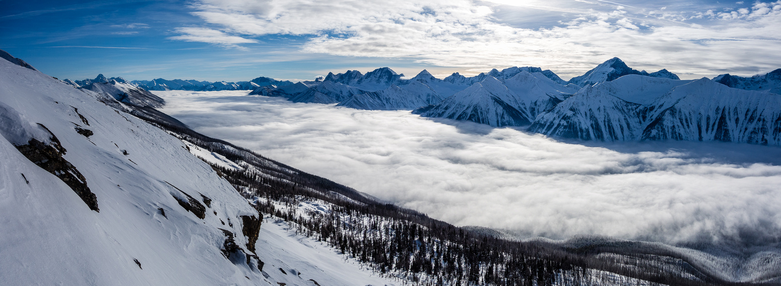 Views down the Great Divide with the inversion.