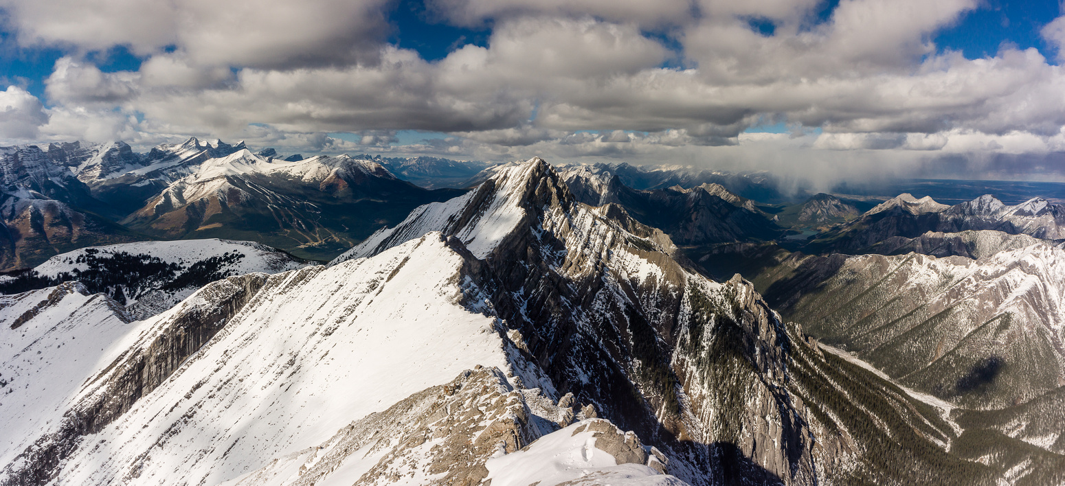 Looking back along my approach ridge to Old Baldy.