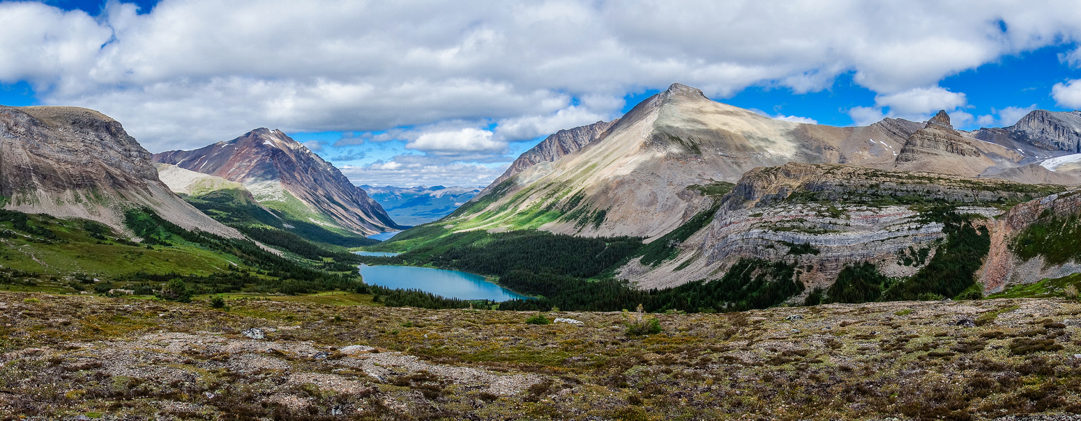 Looking back over the fifth, fourth and third Geraldine Lakes.