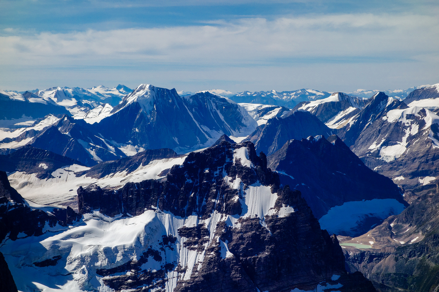 The north face of Serenity Peak (left of center) is impressive!