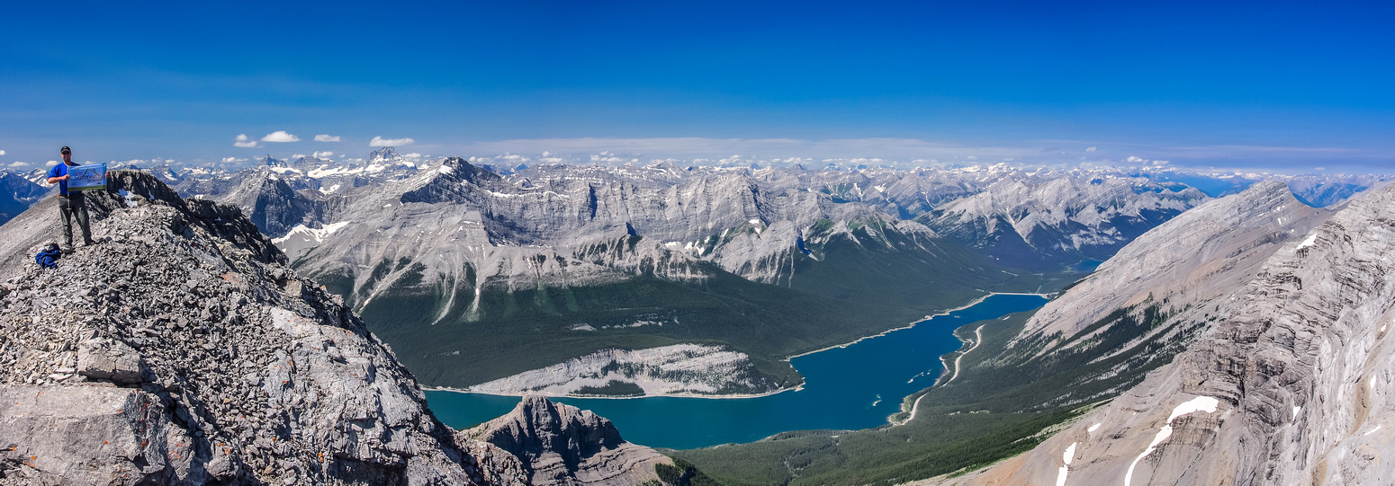 Great views to the west over Spray Lakes.