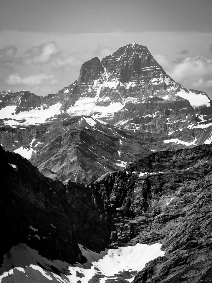 Mount Assiniboine and tiny Lunette to the left.