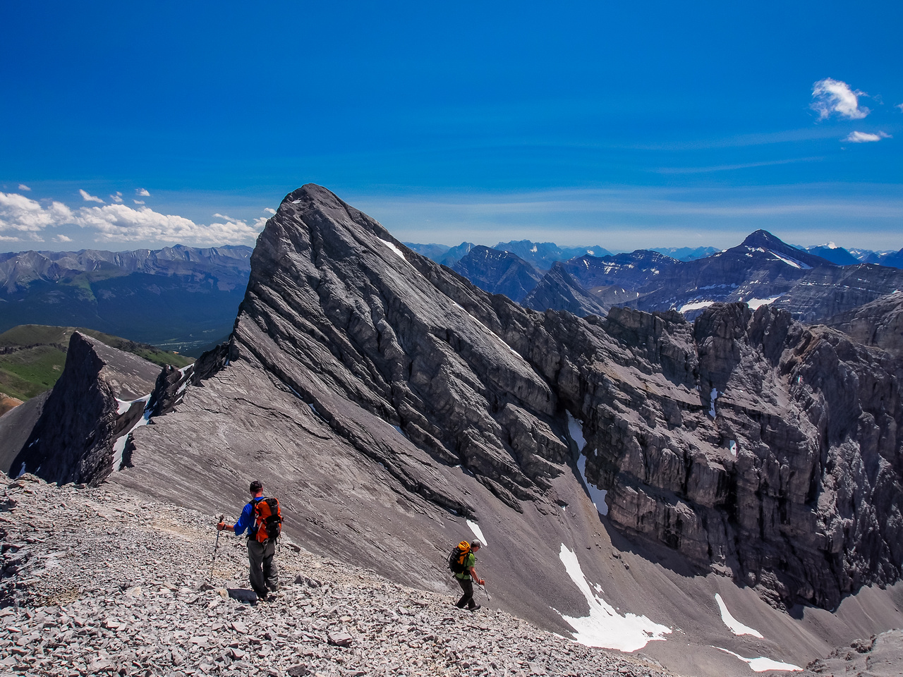 Heading down between Wind and Lougheed III.