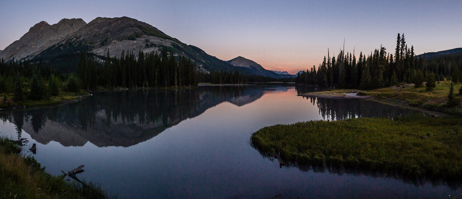 A gorgeous early morning glow near the Burstall Pass parking lot.