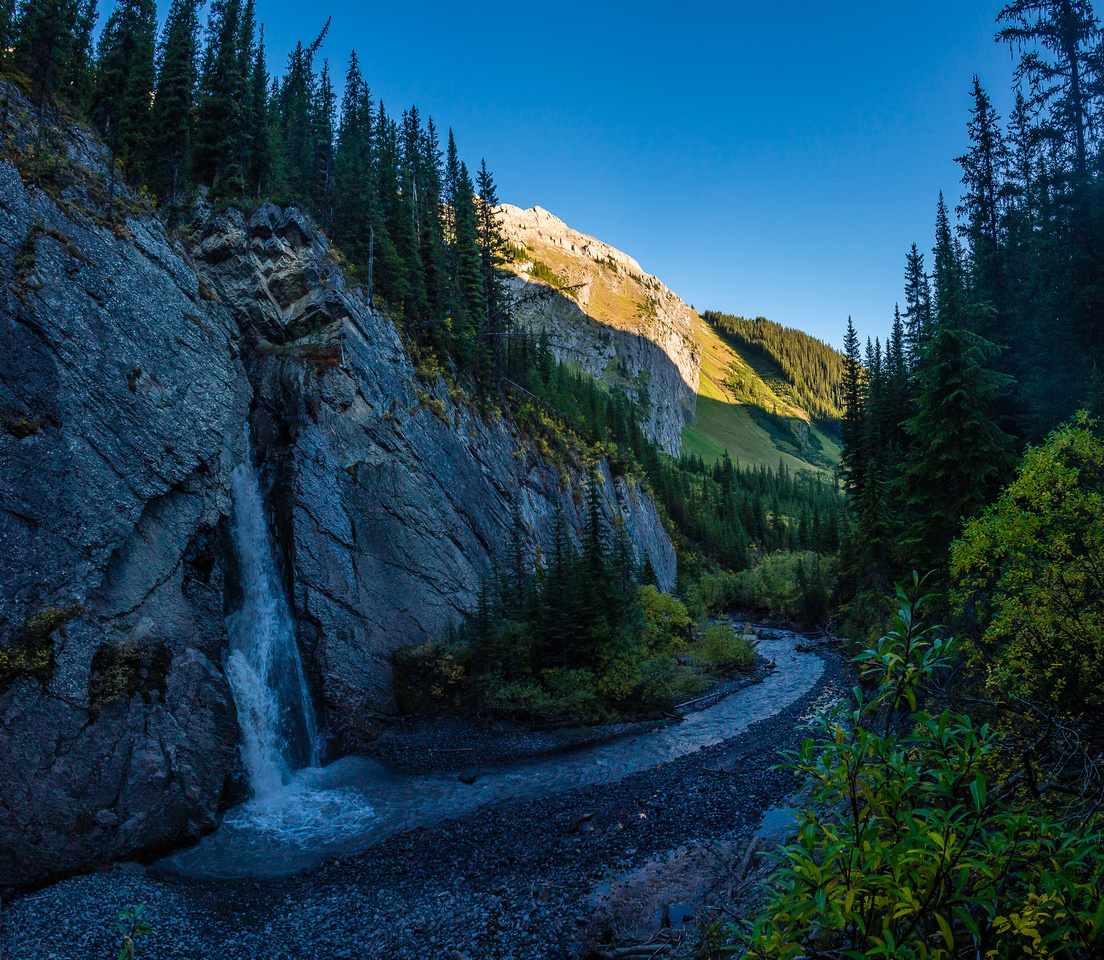A really cool waterfall along French Creek. This is looking back.