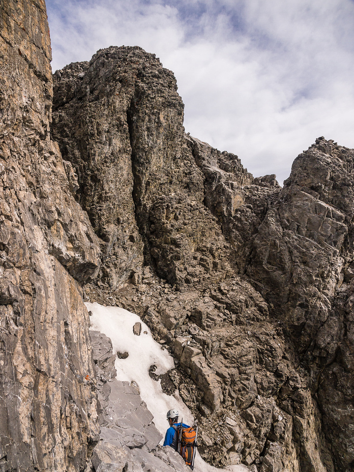 So is just entering the bottom of the gully to the summit of French.