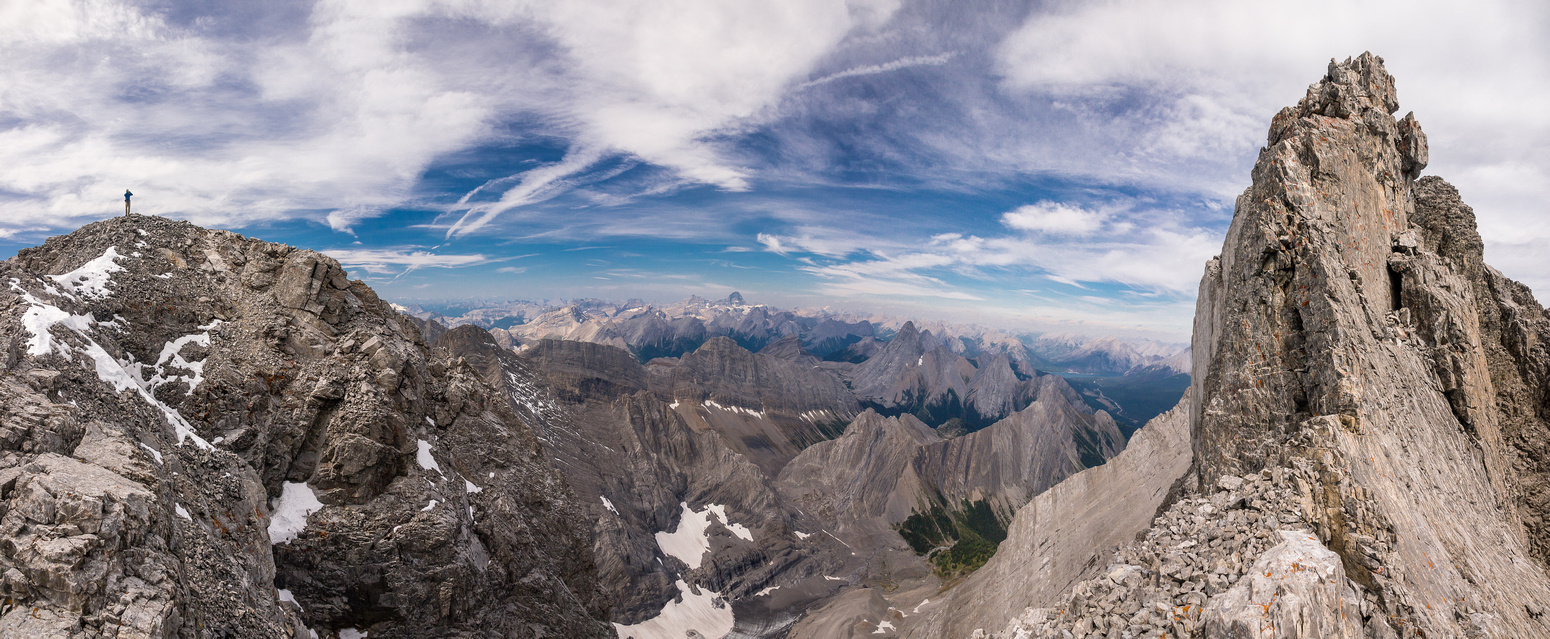 Wild scenes from the summit ridge. Summit at right, So at left.
