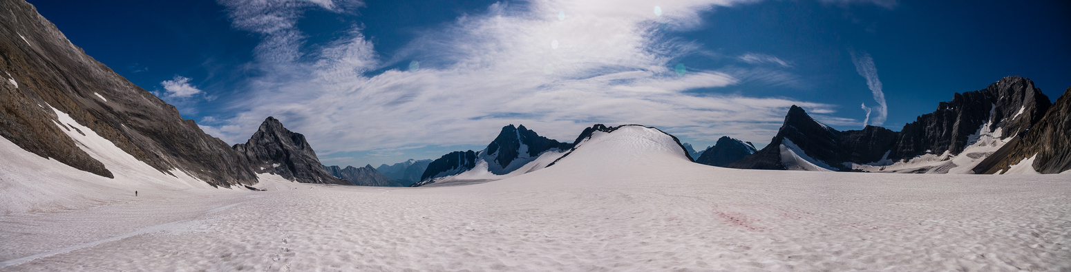 Looking back over the Haig Icefield.