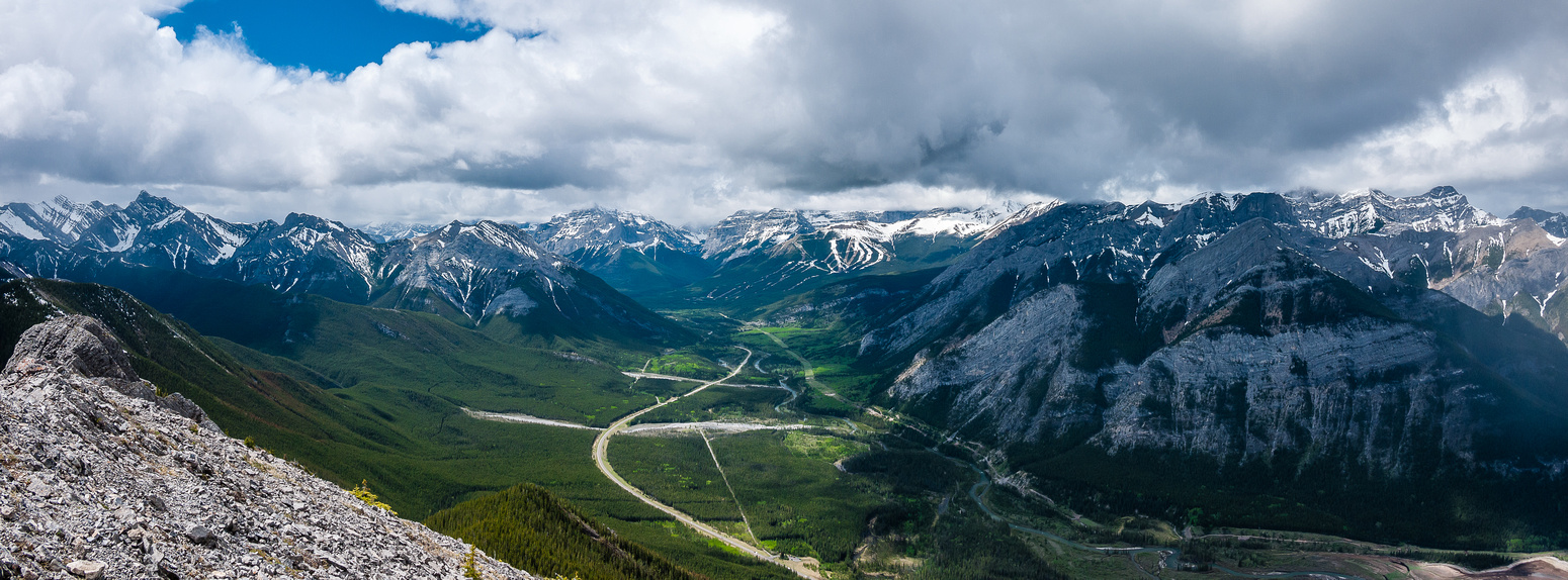 Views south up hwy 40 towards Kananaskis Village.
