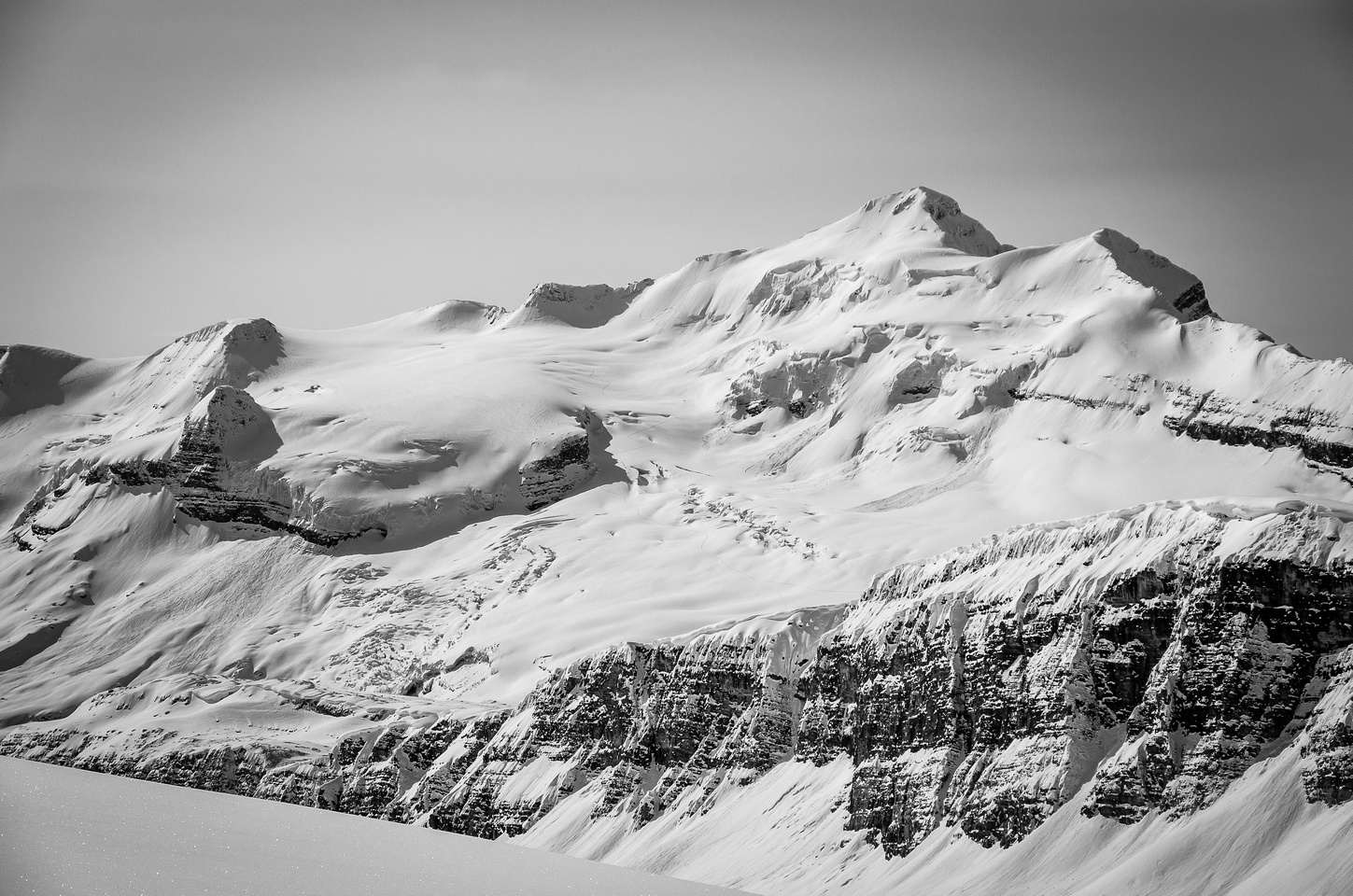 Balfour - king of the Wapta Icefield - stole the show this day. IMHO it's one of the sexiest peaks around.