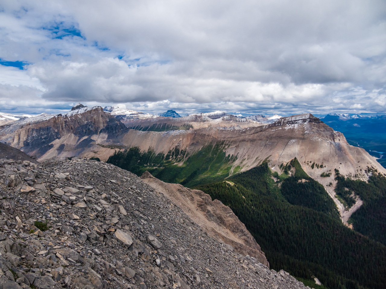 Great view of Wapta (L) and Field (R).