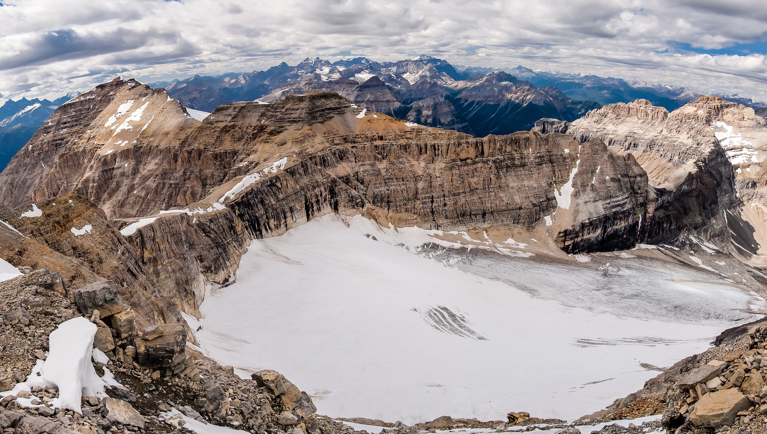 Gorgeous views of the glacier between Stanley, Beatrice and Ball.
