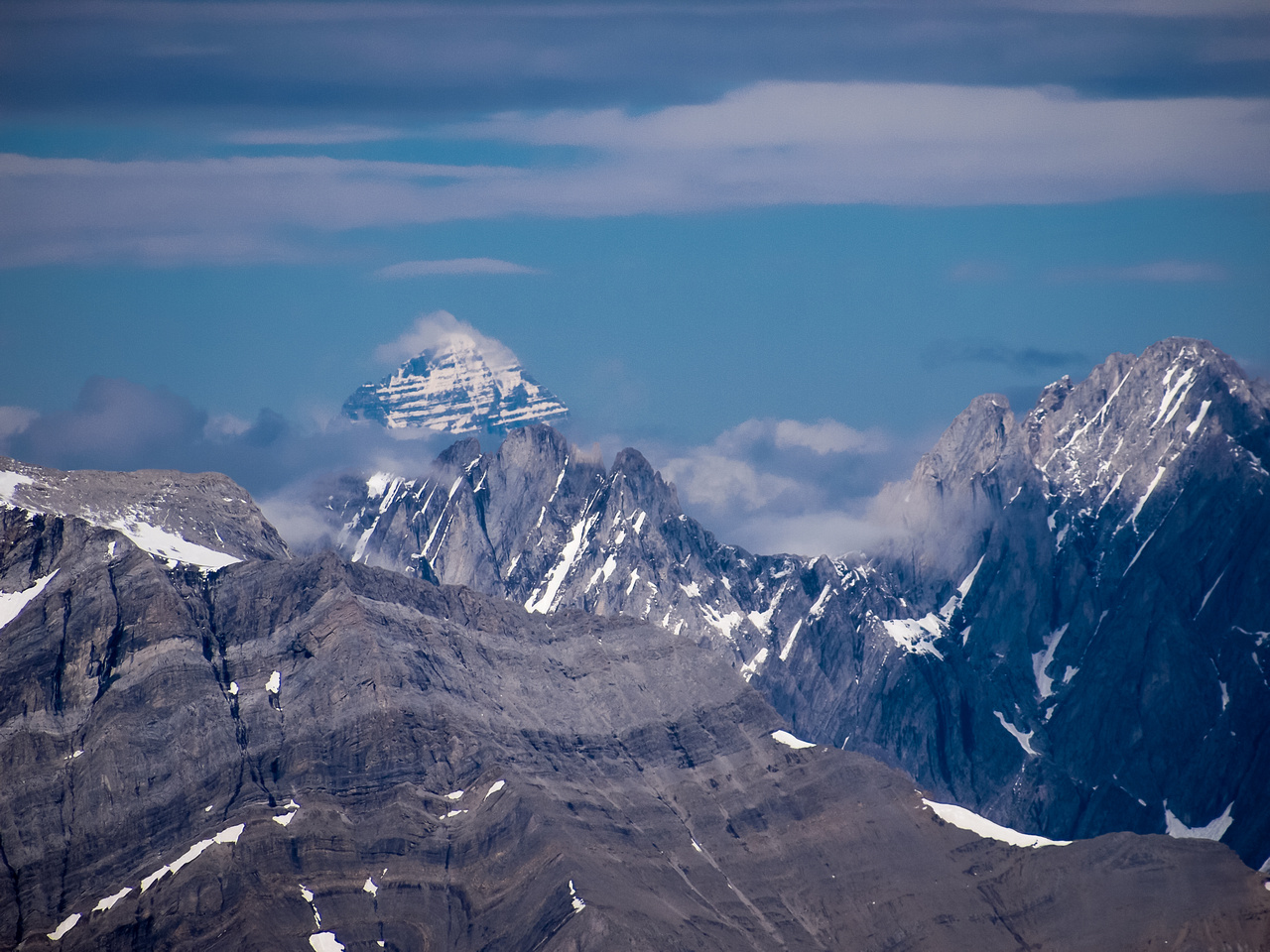 Incredibly, even Mount Assiniboine shows up!