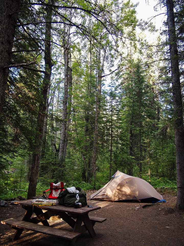 Nice walk-in site at the Pocahontas Campground.