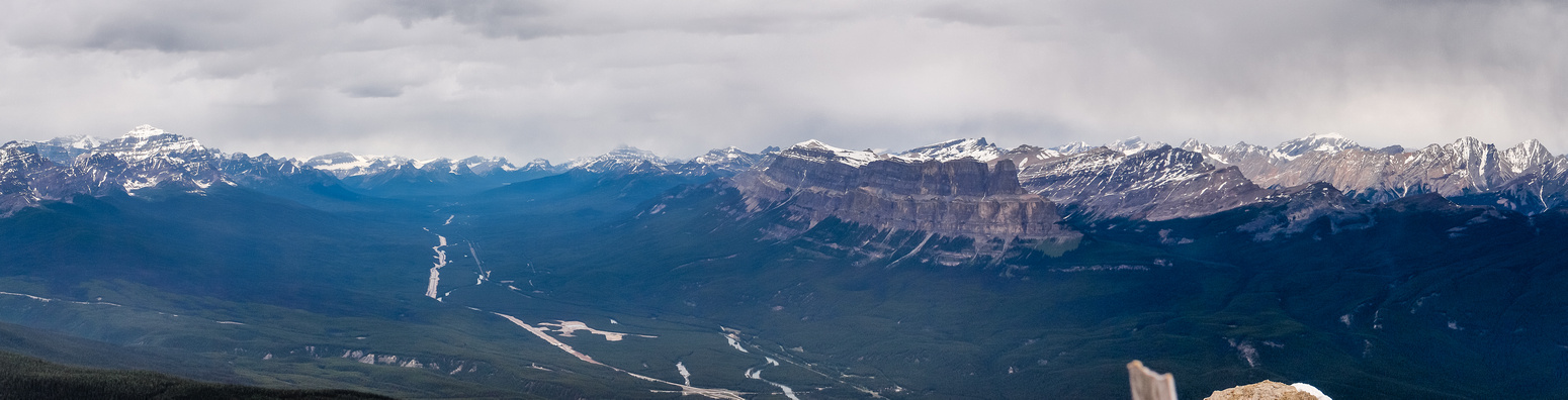 From L to R, Temple, Daly, Hector, Protection, Stuart Knob, Pulsatilla, Castle and Helena Ridge.