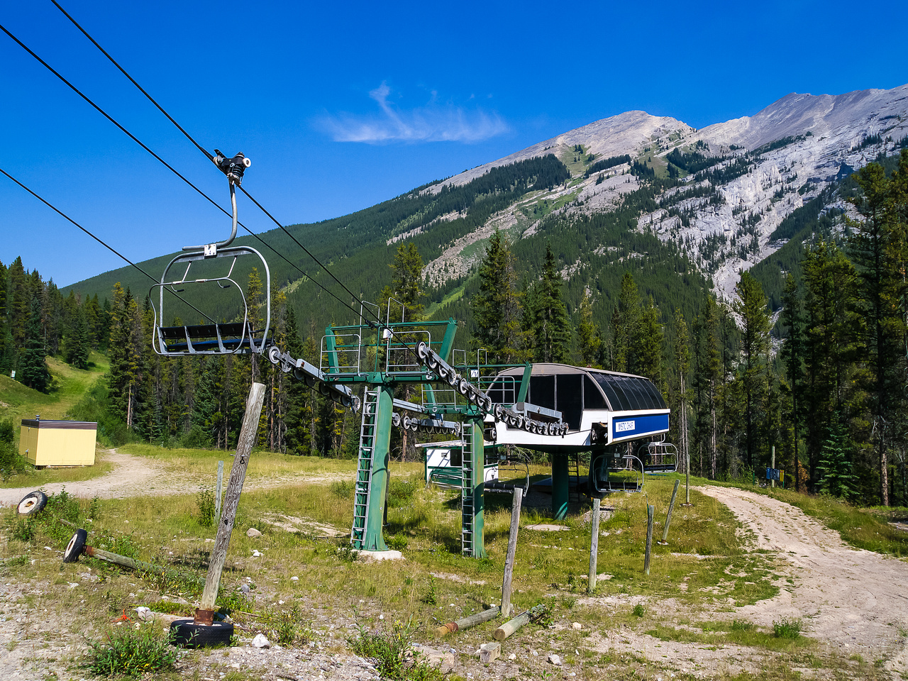View from the Norquay chair towards Cascade.