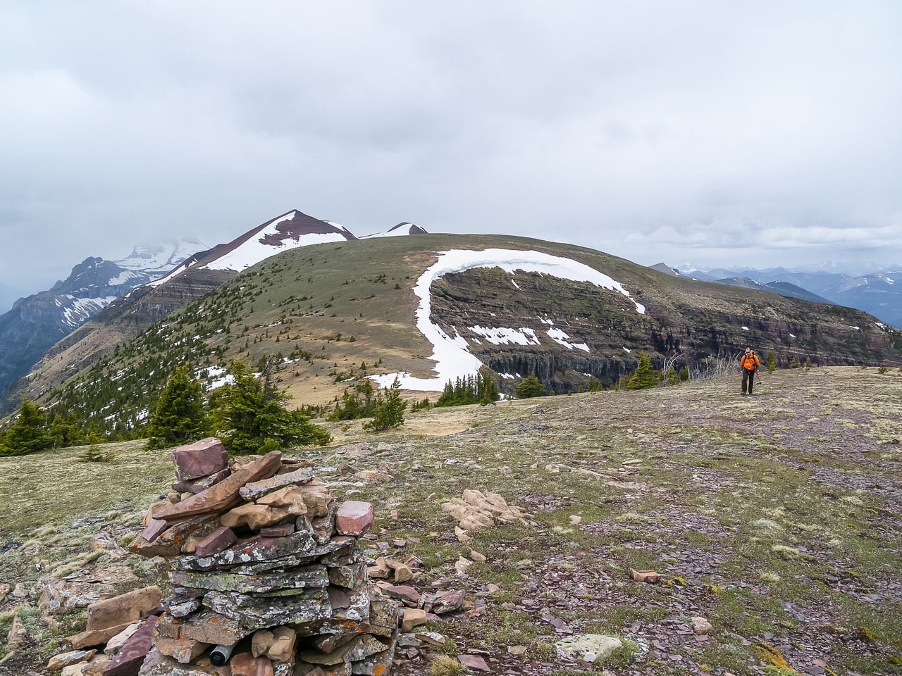 Looking to the high point of Akamina Ridge from near Forum peak.