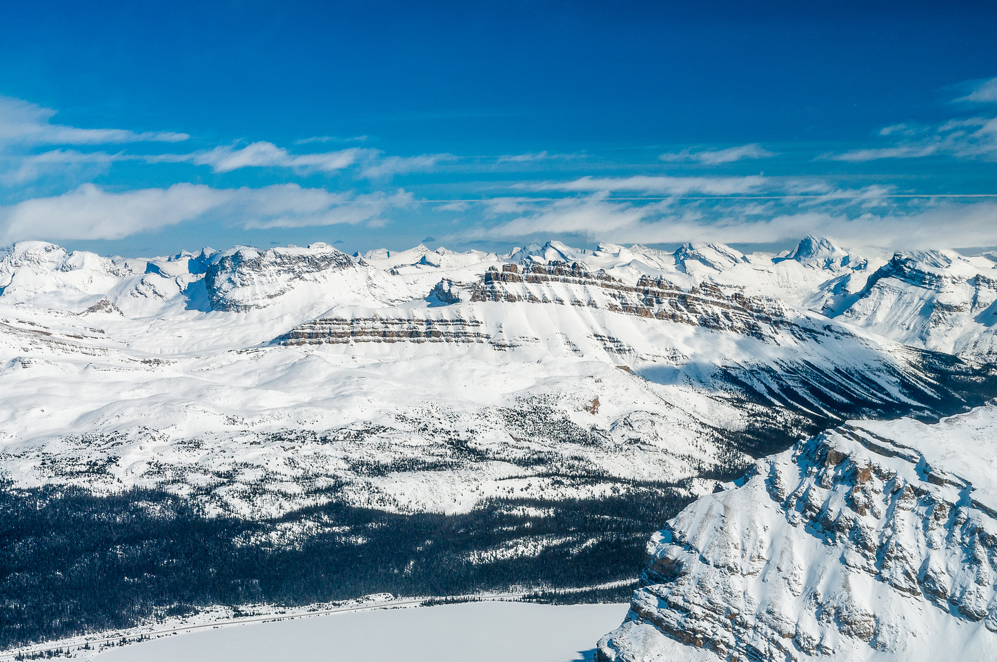 Looking over Dolomite Peak towards Cataract Peak (R) and Puzzle (L).